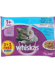 Whiskas Adult Pouches Fish Selection 4x100g Offer 3+1 Free