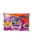 Whiskas Junior Pouches Meat Selection 4x100g Offer 3+1 Free