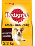 Pedigree Small Dog Dry Chicken 2kg + Free Pouch
