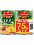 Del Monte Fruit Cocktail In Light Syrup Twin Pack 75c Off