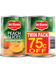 Del Monte Peach Slices In Light Syrup Twin Pack 75c Off