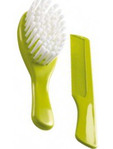 Nuvita Comb & Brush Green