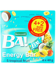 Ba! Energy Bar Tropical Fruit X5 40g(4+2 Free)