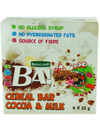 Ba! Cocoa & Milk Cereal Bars 6x25g 99c Only