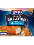 Young's 4 Breaded Cod Fillets 1 Euro Off 480g