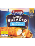 Youngs 4 Breaded Fillets 480g €1 Off