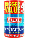 Elite Low Fat Tuna In Brine X4 160gr