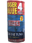 Elite Tuna Low Fat In Brine 4x80g