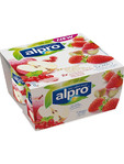 Alpro Yogurts Strawberry & Apple 4x125g