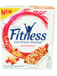 Nestle Fitness Cereal Bars Red Berries X6