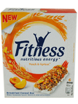 Fitness Peach & Apricot Cereal Bar X6 141g