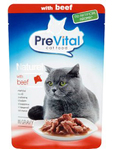 Prevital Cat Food Pouch Beef In Gravy 85g