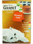 Purina Gourmet Gold Savoury Cake Mixed X12 85g