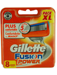 Gilette Fusion Power Cartridges (pack Xl) X8