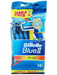 Gillette Blue Ii Plus Disp 10+4 Free