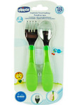 Chicco A/ateel Spoon & Fork 18m+