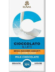 Icam Milk Choc 32% 100g Sugar And Gluten Free