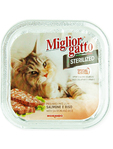 Miglior Gatto Sterilized Wet Food With Salmon & Rice 100g