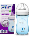 Avent Feeding Bottle Natural Single Pack Blue 125ml