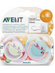 Avent Ultra Soft Soothers Universe 6-18m X2