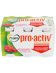 Flora Pro Activ Yoghurt Strawberry Drink X6