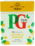 Pg Tips Lemon & Ginger Tea X25