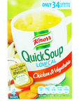 Knorr Chicken & Veg Low Cal Quick Soup X4