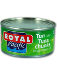 Royal Pacific Tuna Chunks In Sunflower Oil 185g
