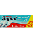 Signal Family Whitening Toothpaste 2x100ml