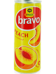 Rauch Bravo Peach Can 250ml